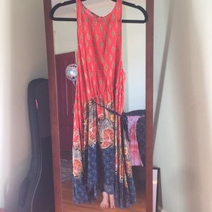 Free People Red Combo Dress-Size Small